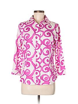 Foxcroft 3/4 Sleeve Button-Down Shirt Size 6