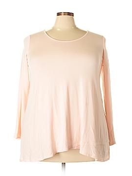 Joan Vass Long Sleeve Top Size 1X (Plus)