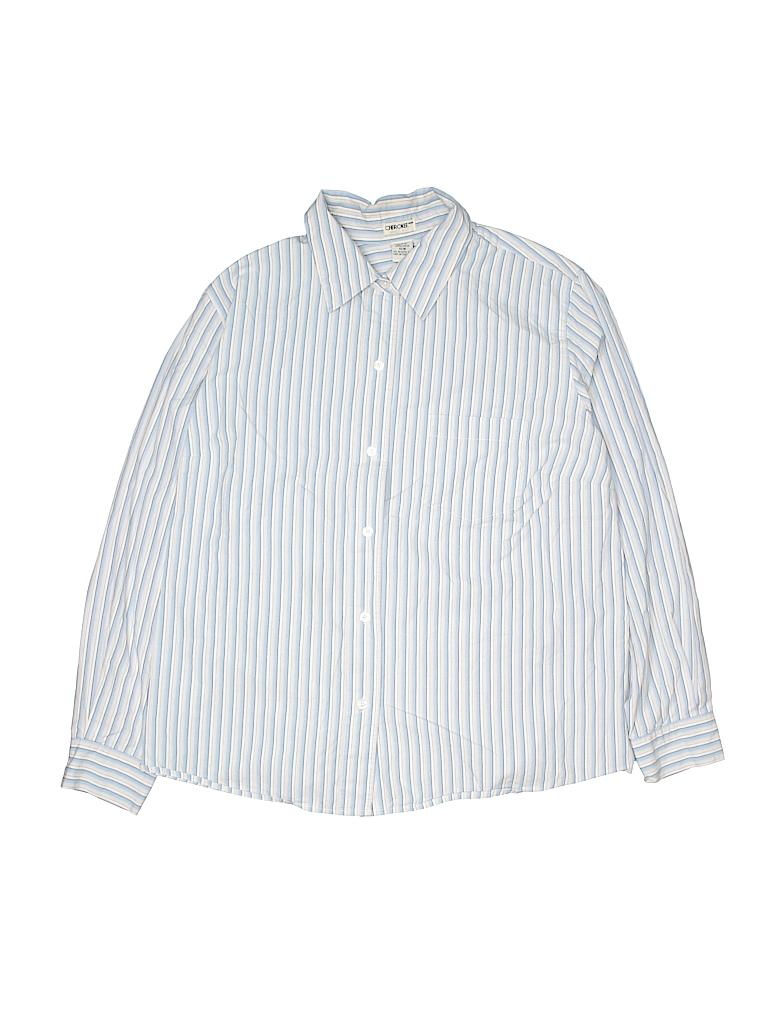 Cherokee Women Long Sleeve Button-Down Shirt Size 16