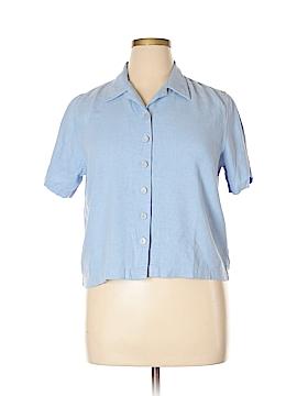 Christopher & Banks Short Sleeve Button-Down Shirt Size XL