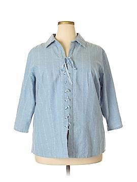 St. John's Bay 3/4 Sleeve Blouse Size 1X (Plus)