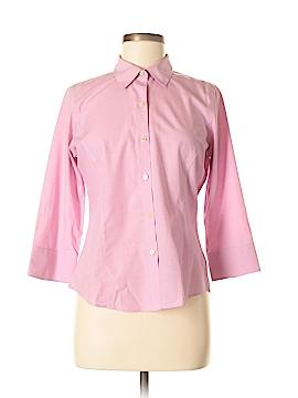 Liz Claiborne 3/4 Sleeve Button-Down Shirt Size 8 (Petite)
