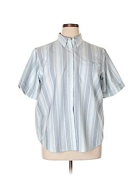 Cabin Creek Short Sleeve Button-Down Shirt Size 16