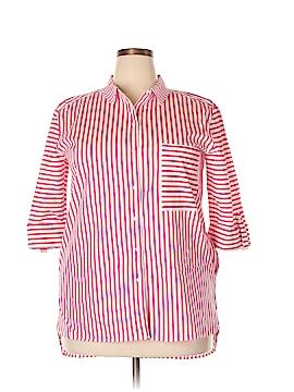 Rafaella 3/4 Sleeve Button-Down Shirt Size XL