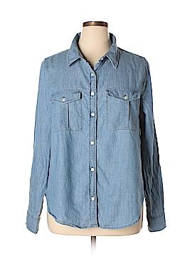 Rush Long Sleeve Button-Down Shirt Size 2X (Plus)