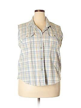 Cabela's Sleeveless Button-Down Shirt Size 2XL (Plus)