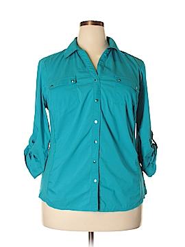 Zac & Rachel Long Sleeve Button-Down Shirt Size 2X (Plus)