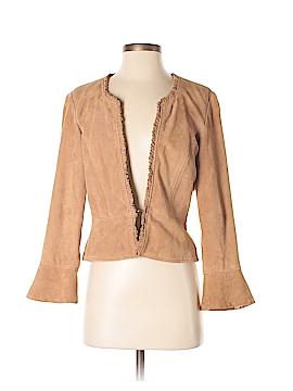 INC International Concepts Leather Jacket Size S