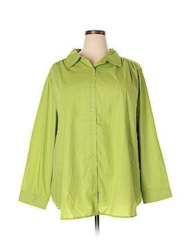Roaman's Long Sleeve Button-Down Shirt Size 30 (3X) (Plus)