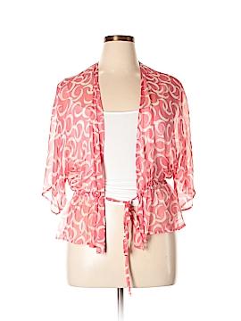 Jennifer Reale Design 3/4 Sleeve Silk Top Size L