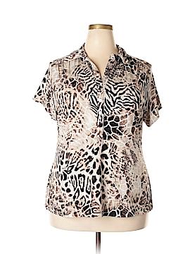 Alfani Short Sleeve Blouse Size 2X (Plus)