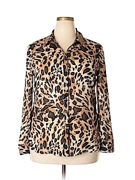 JM Collection Long Sleeve Blouse Size 16