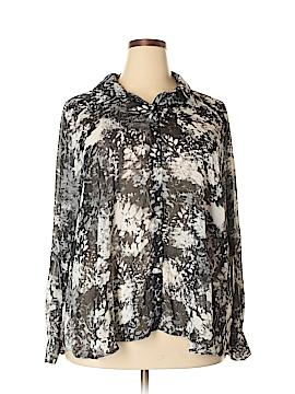 Bongo Long Sleeve Blouse Size 3X (Plus)