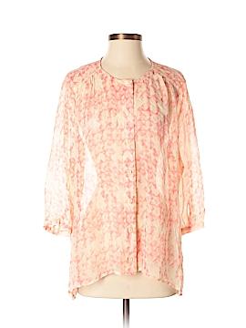 CAbi 3/4 Sleeve Silk Top Size S