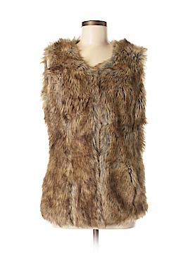 MONORENO Faux Fur Vest Size M