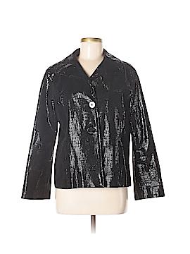Chico's Leather Jacket Size Lg (2)