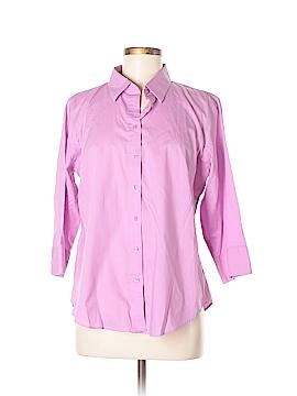 KIRKLAND Signature 3/4 Sleeve Button-Down Shirt Size L