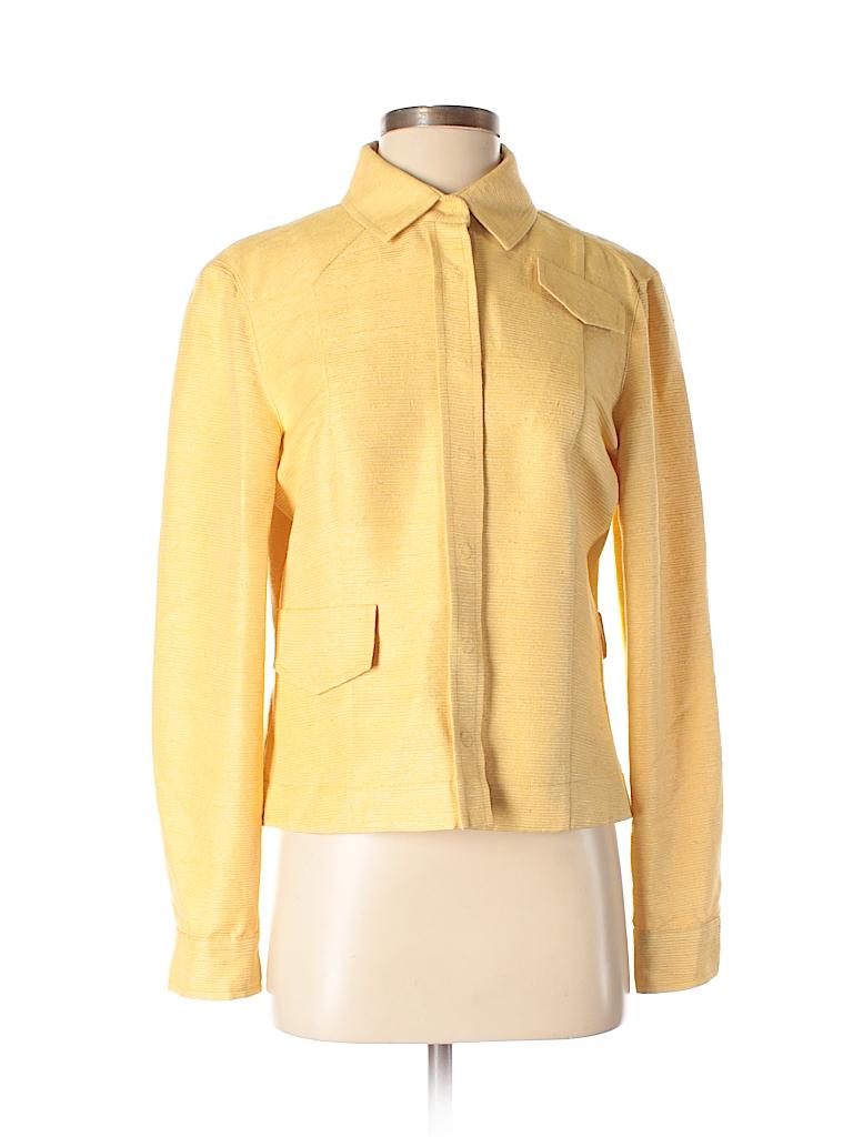 AKRIS Women Long Sleeve Silk Top Size 8