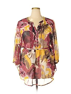 Nicole Miller 3/4 Sleeve Blouse Size 2X (Plus)