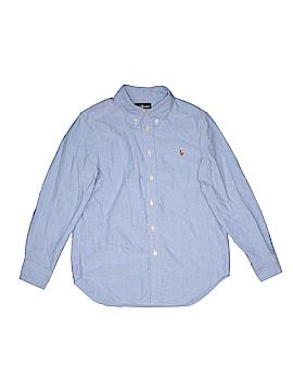 Ralph Lauren Baby Long Sleeve Button-Down Shirt Size 10