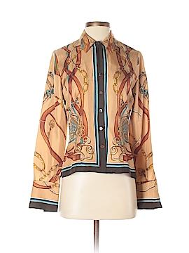 Dana Buchman Long Sleeve Silk Top Size 2 (Petite)