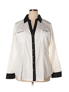 Ashley Stewart Long Sleeve Button-Down Shirt Size 20 (Plus)
