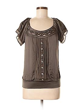 Matty M Short Sleeve Silk Top Size S