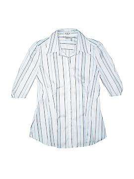 MKM Designs 3/4 Sleeve Button-Down Shirt Size M