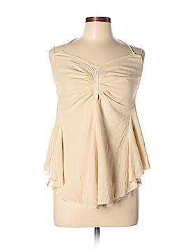 Tree Sleeveless Silk Top Size L