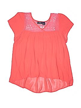 Mileage Short Sleeve Blouse Size L