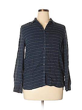 Beach Lunch Lounge Long Sleeve Button-Down Shirt Size L