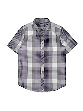 Hawk Short Sleeve Button-Down Shirt Size L (Kids)