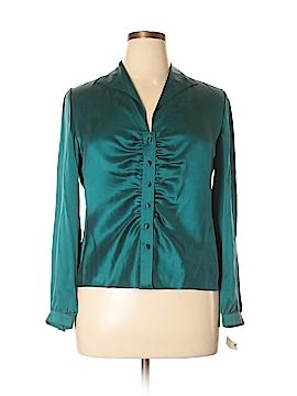 Talbots Long Sleeve Silk Top Size 16 (Petite)