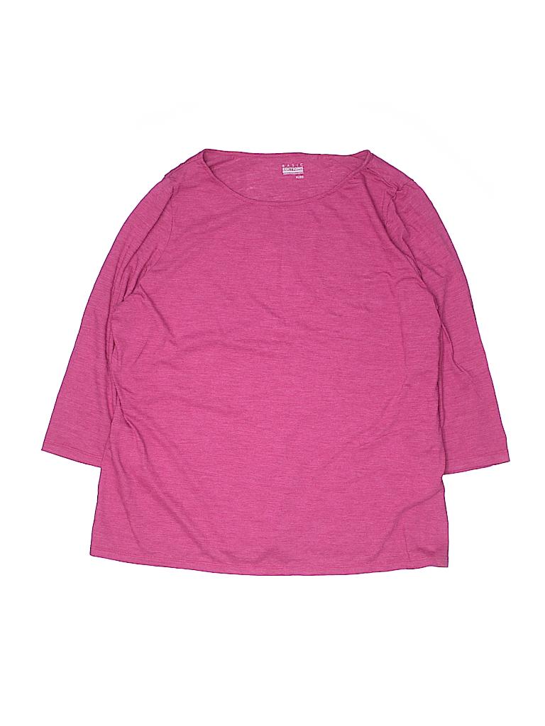 Basic Editions Women 3/4 Sleeve T-Shirt Size XL