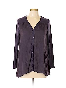 Simply Vera Vera Wang Long Sleeve Blouse Size L (Petite)