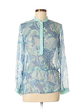 J. McLaughlin Long Sleeve Silk Top Size 2