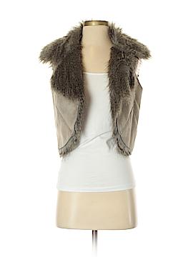 Topshop Faux Fur Vest Size 6
