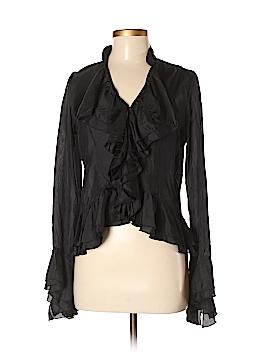 Anne Carson Long Sleeve Silk Top Size S