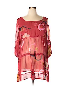 HARARI 3/4 Sleeve Silk Top Size 3X (Plus)