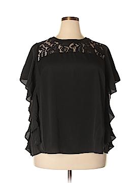 Eloquii Short Sleeve Blouse Size 20 (Plus)