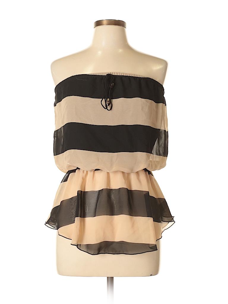 e5e980dbc6 Celine by Champion 100% Polyester Stripes Black Tube Top Size L - 60 ...