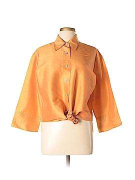 Debra deRoo Long Sleeve Silk Top Size L