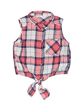 H&M Sleeveless Button-Down Shirt Size 9
