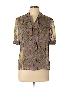 Jones New York Collection Short Sleeve Silk Top Size 6