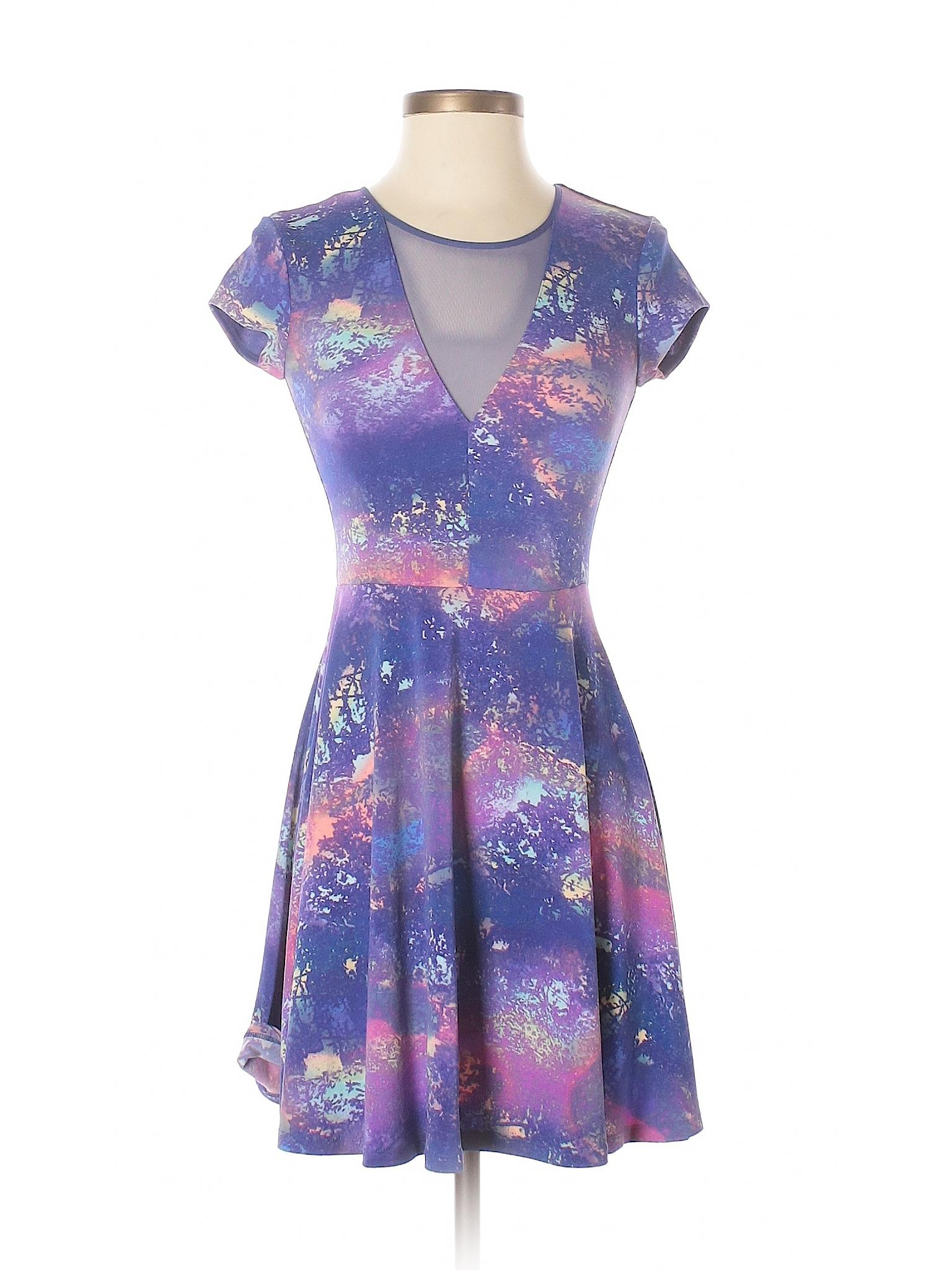 Dress Kimchi Casual Boutique winter Blue qf5IRZw4