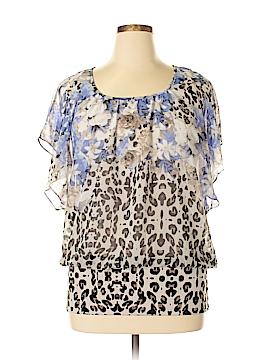 JM Collection Short Sleeve Blouse Size 1X (Plus)