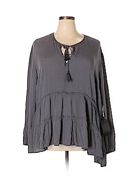 Kensie Long Sleeve Blouse Size 2X (Plus)