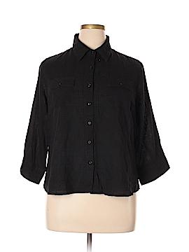 Coral Bay 3/4 Sleeve Button-Down Shirt Size XL (Petite)