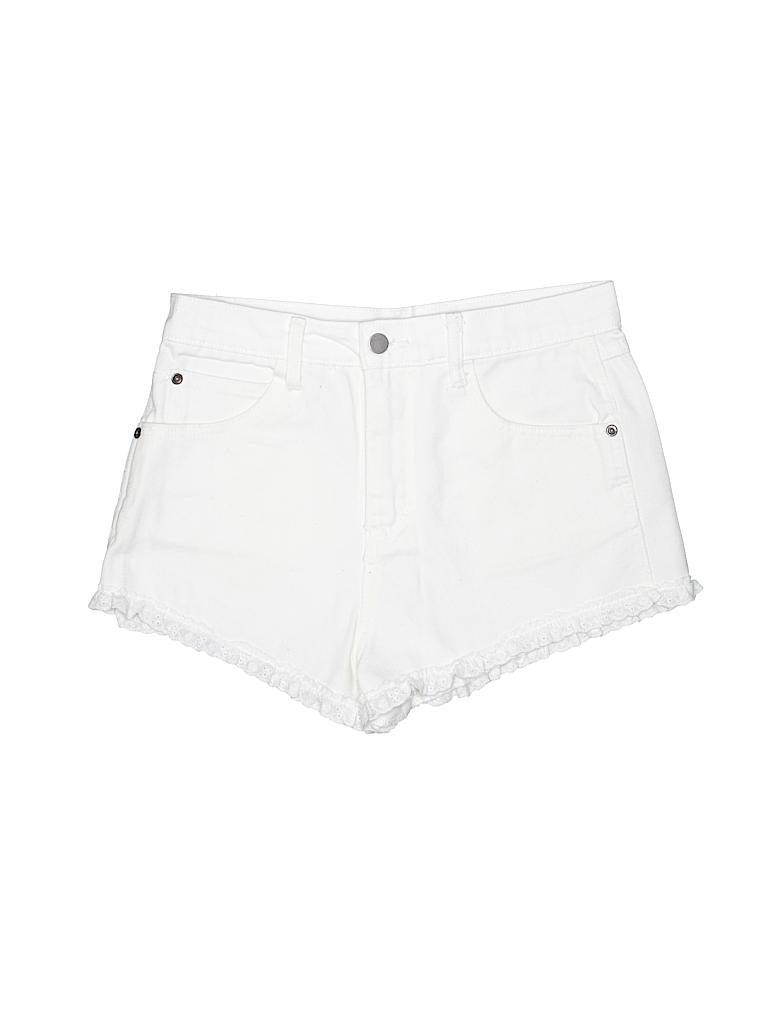 257505b3f32 Forever 21 100% Cotton Solid White Denim Shorts 28 Waist - 49% off ...