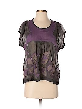 Antik Batik Short Sleeve Blouse Size M